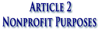 Article 2 Nonprofit Purposes